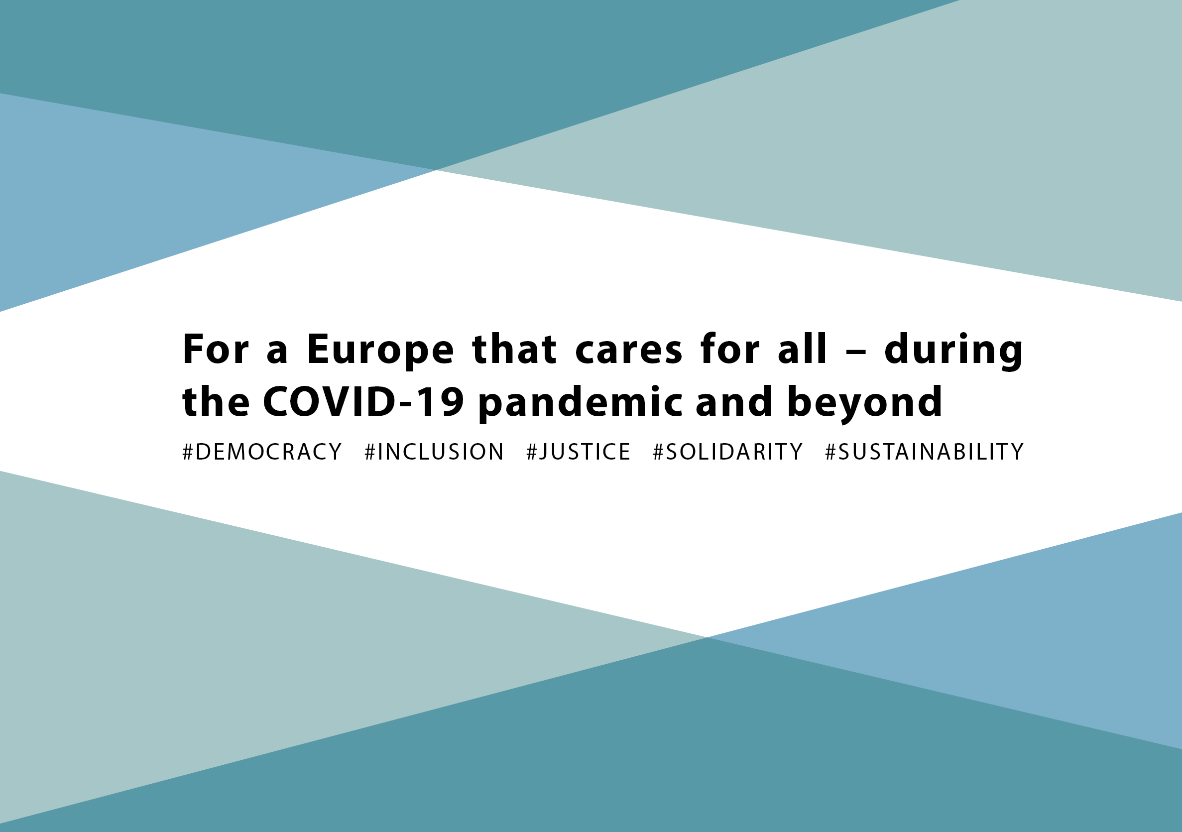 CIVIL SOCIETY & TRADE UNION STATEMENT For a Europe that cares for all – during the COVID-19 pandemic and beyond