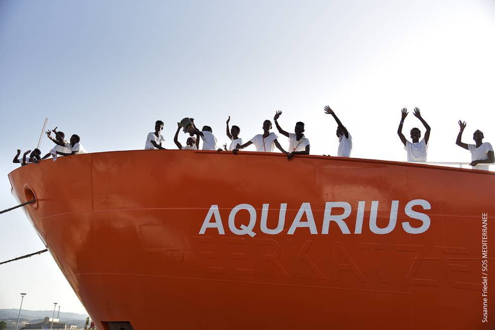 Saved at sea by Acquarius