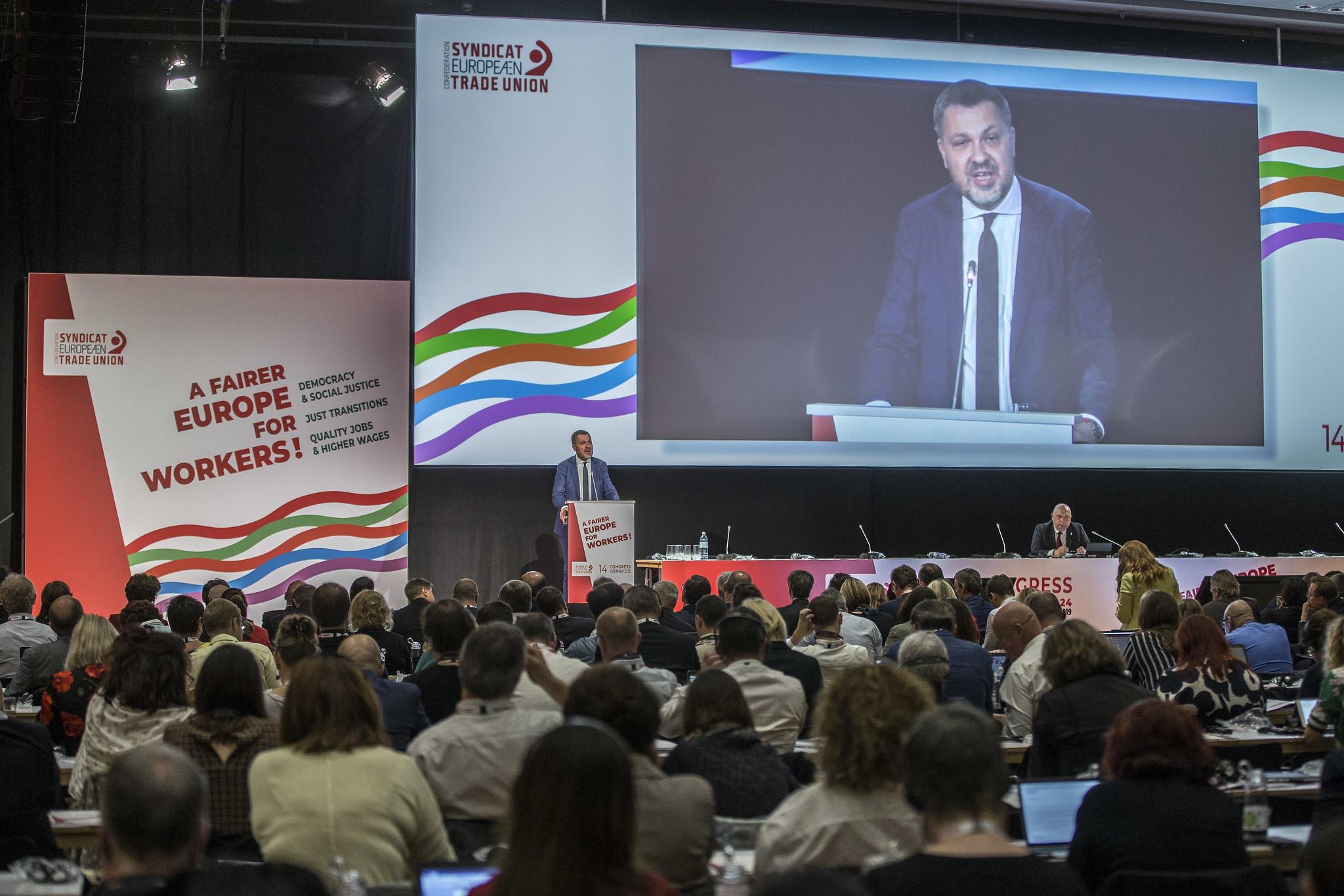 Luca Visentini ETUC Congress