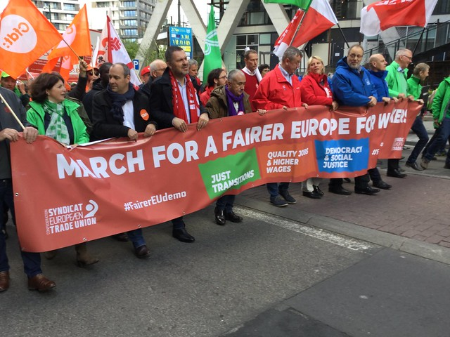 ETUC march for a fairer Europe