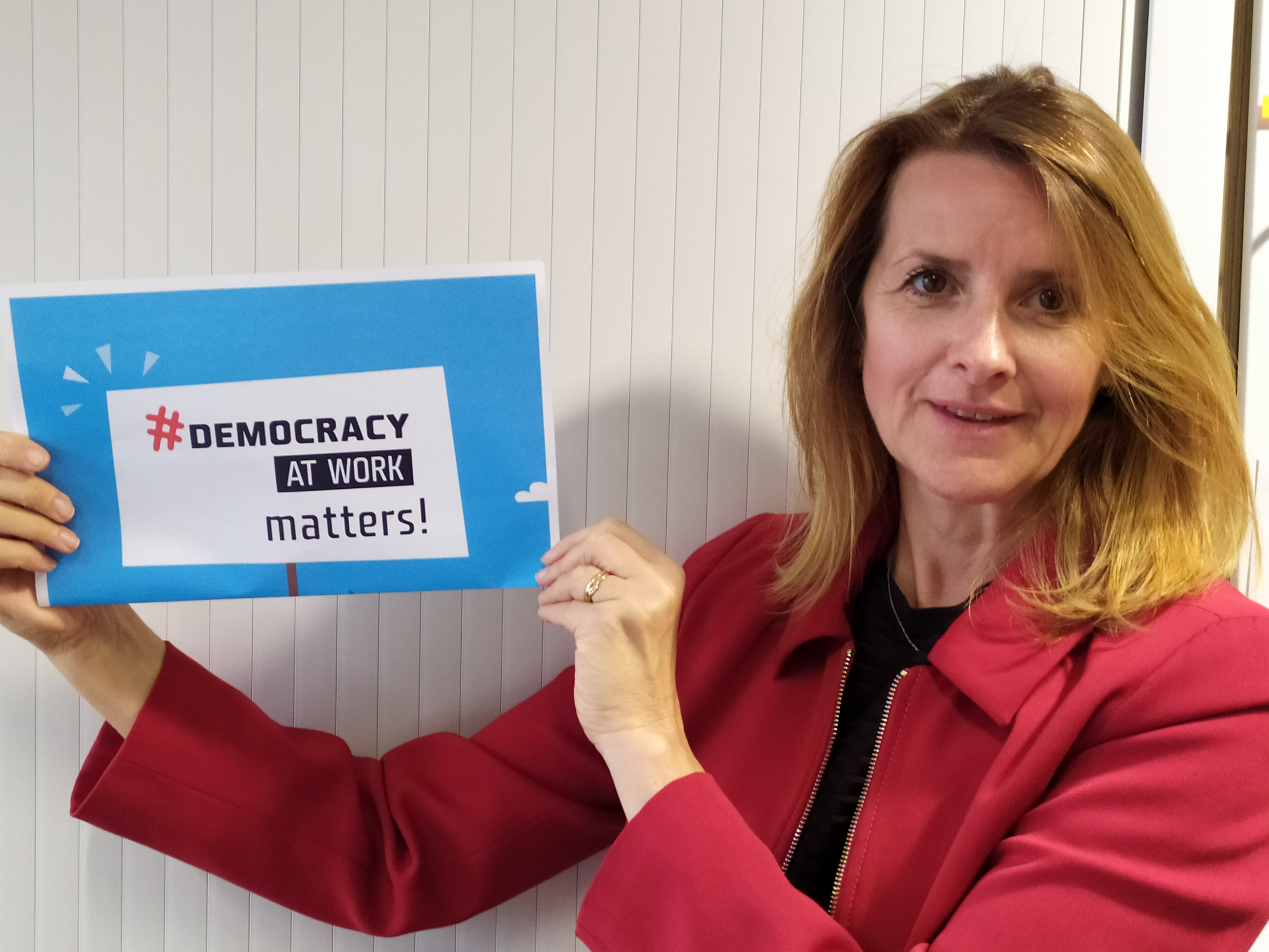 ETUC Isabelle Schomann call for more democracy at work