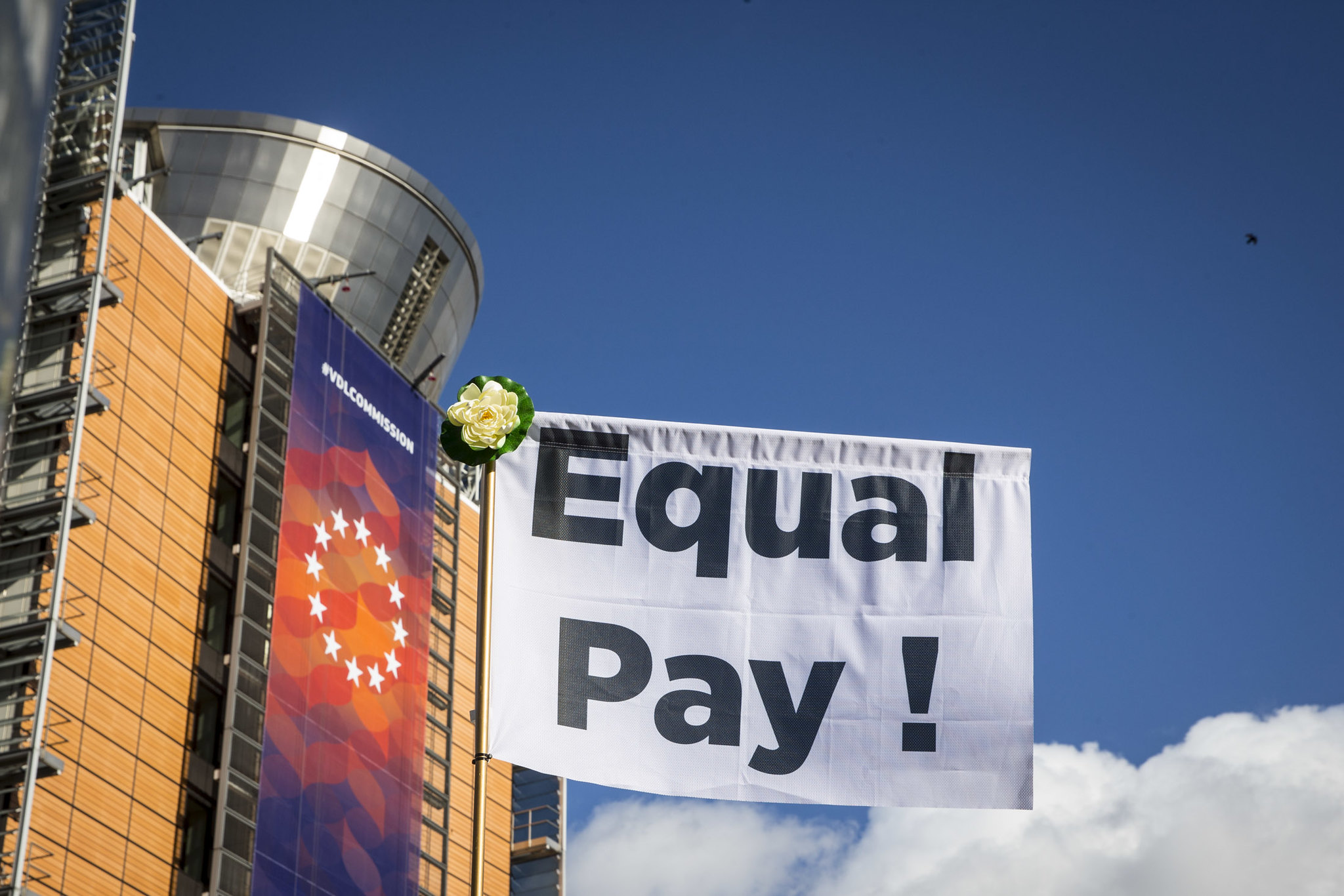 Gender Pay Transparency protest outside the European Commission