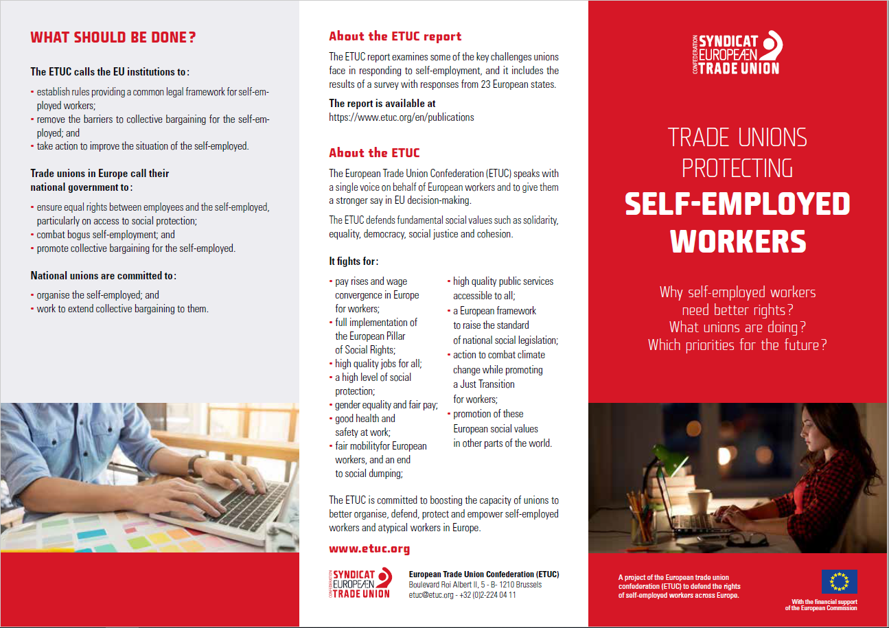 Trade Unions protecting Self- Employed Workers