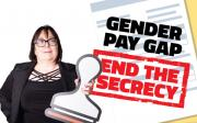 ETUC Deputy General Secretary Esther Lynch campaigns to end the secrecy over the gender pay gap