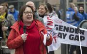 Esther Lynch speaks at gender pay protest