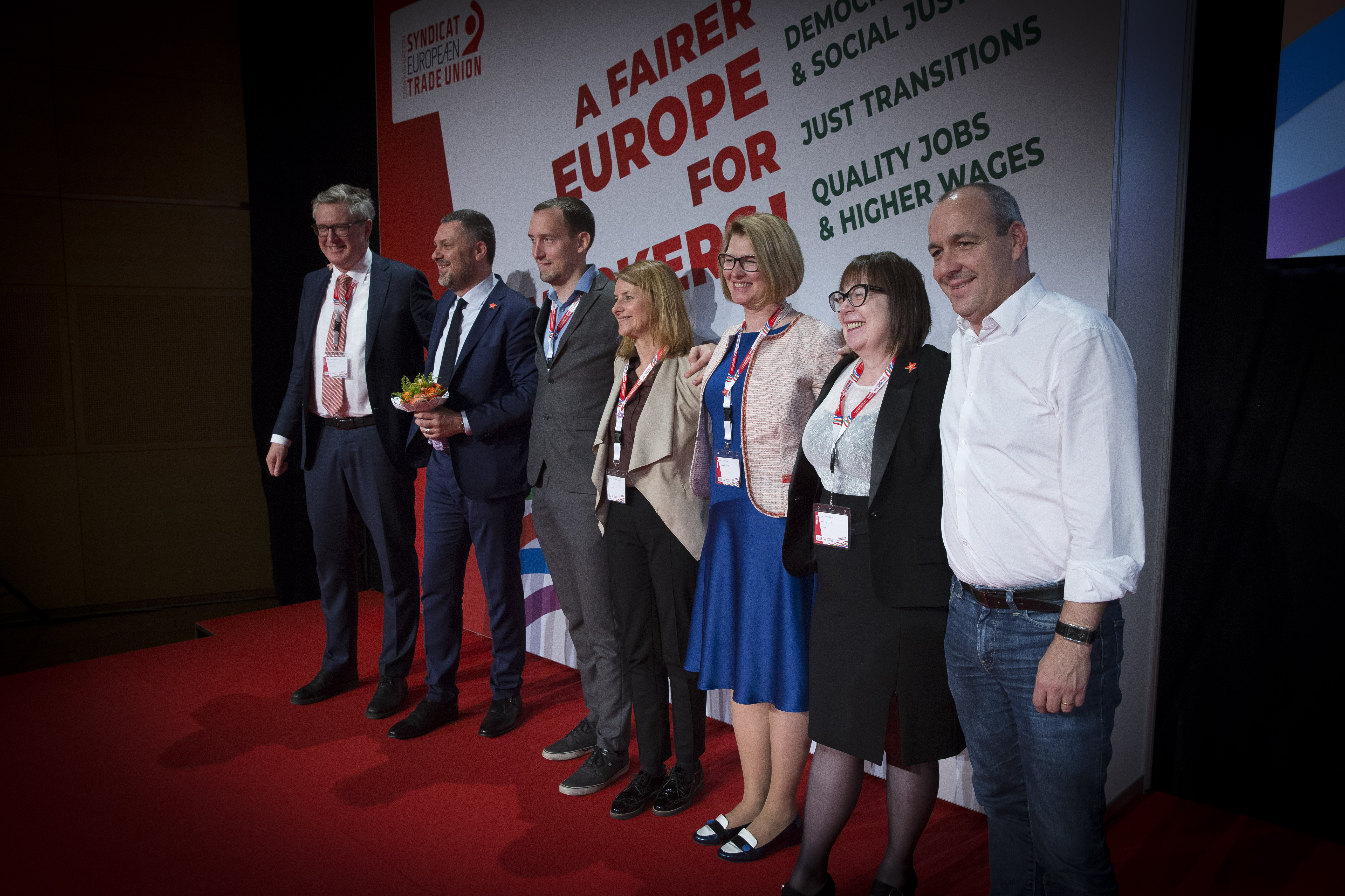 New elected ETUC team 2019